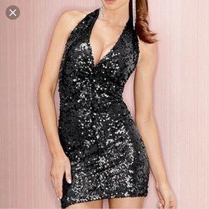 Fredricks of Hollywood Halter Sequin Mini Dress